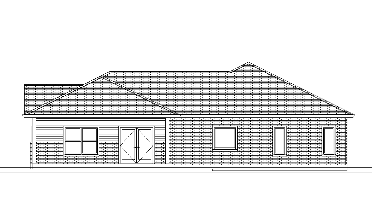 Plan No. 1040_BK ELEVATION