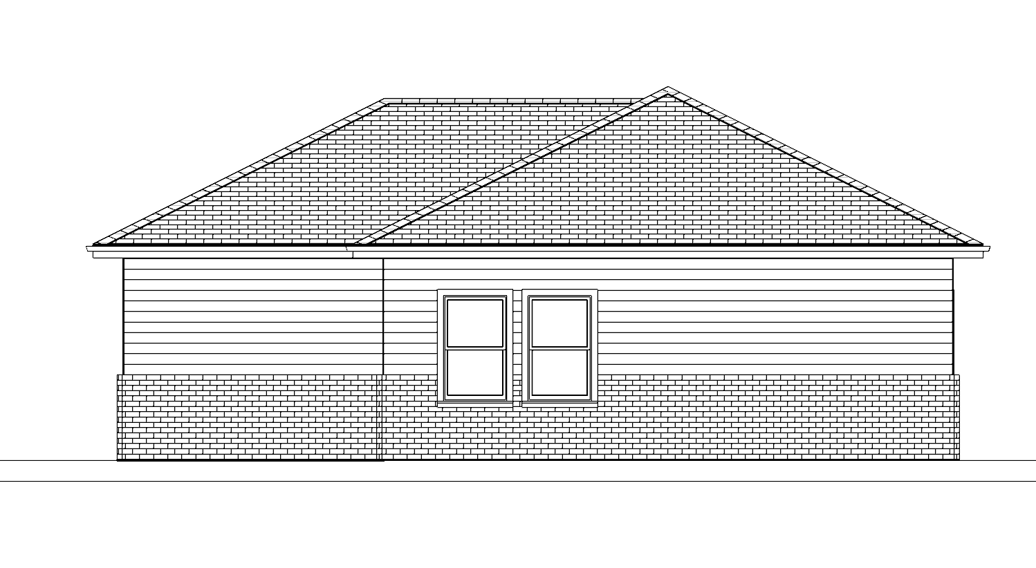 Plan No. 1060_BK ELEVATION