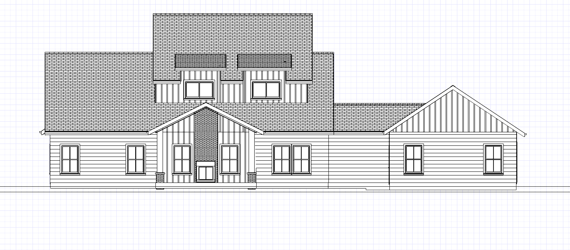 Plan No. 1070_BK ELEVATION